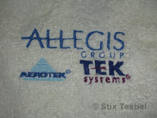 Logo op handdoek